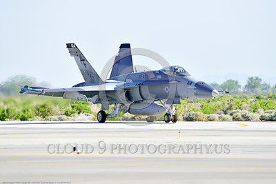 F-18A-USN-VFA-204 0003 A McDonnell Douglas F-18A Hornet USN adversary VFA-204 RIVER RATTLERS taxis for take-off at NAS Fallon 4-2016 military airplane picture by Peter J  Mancus