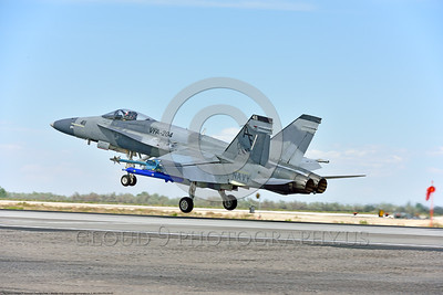 F-18A-USN-VFA-204 0002 A McDonnell Douglas F-18A Hornet USN Reserve adversary VFA-204 RIVER RATTLERS lands at NAS Fallon after a training mission 4-2016 military airplane picture by Peter J  Mancus