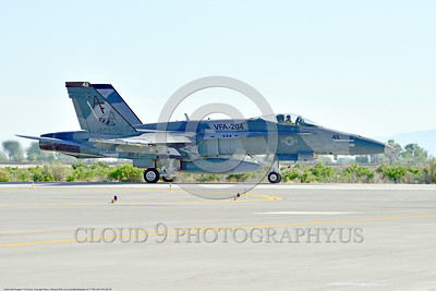 F-18A-USN-VFA-204 0009 A McDonnell Douglas F-18A Hornet USN adversary VFA-204 RIVER RATTLERS taxis for take-off at NAS Fallon 4-2016 military airplane picture by Peter J  Mancus