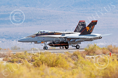 Boeing F-18C-USN 00019 A taxing colorful Boeing F-18C Hornet jet fighter US Navy VFA-87 WAR PARTY AJ code NAS Fallon 10-2013 military airplane picture by Peter J Mancus