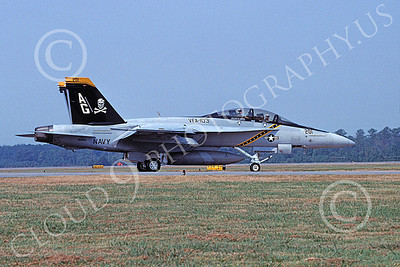 Boeing F-18F-USN 00099 A taxing colorful Boeing F-18F Super Hornet USN 166622 VFA-103 JOLLY ROGERS USS Dwight D Eisenhower NAS Oceana 10-2006 military airplane picture by David F Brown