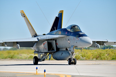 F-18E-USN-VF-105 002 A Boeing F-18E Super Hornet jet fighter USN 166650 VF-105 GUNSLINGERS CAG USS Dwight Eisenhower AC code taxis at NAS Fallon 7-2019, military airplane picture by Peter J  Mancus     854_5068     Dwt