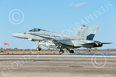 Boeing F-18C-USN 00208 A Boeing F-18C Hornet jet fighter USN 164664 VFA-106 GLADIATORS AD code lands at NAS Fallon 10-2013 military airplane picture by Peter J Mancus