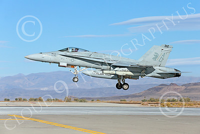 Boeing F-18C-USN 00140 A Boeing F-18C Hornet jet fighter USN 164664 VFA-106 GLADIATORS AD code lands at NAS Fallon 10-2013 military airplane picture by Peter J Mancus