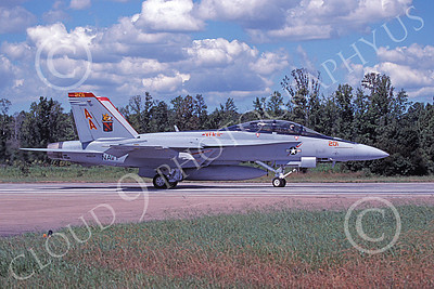 Boeing F-18F-USN 00145 A taxing Boeing F-18F Super Hornet USN 166634 VFA-11 RED RIPPERS NAS Oceana 10-2006 military airplane picture by David F Brown