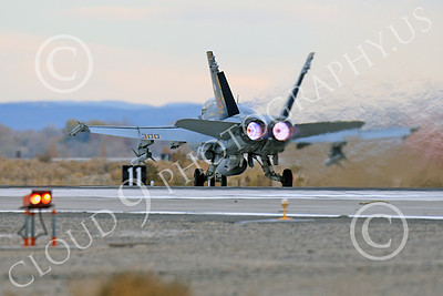 AB-F-18USN-L 00057 A colorful McDonnell Douglas F-18C Hornet USN 164257 VFA-113 STINGERS with missiles in afterburner at NAS Fallon 11-2013 military airplane picture by Peter J Mancus