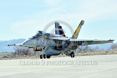 Boeing F-18E-USN 00233 A Boeing F-18E Super Hornet USN 166859 VFA-115 EAGLES commanding officer's airplane USS George Washington NF code with large bombs taxis at NAS Fallon 2-2015 military airplane picture by Peter J Mancus