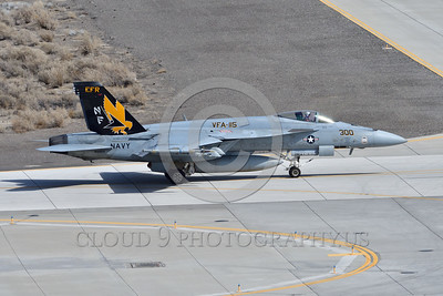 F-18E-USN-VFA-115 0005 A taxing Boeing F-18E Super Hornet USN jet fighter VFA-115 EAGLES commanding officer's airplane USS Ronald Reagan NAS Fallon 3-2017 military airplane picture by Peter J Mancus     DONEwt