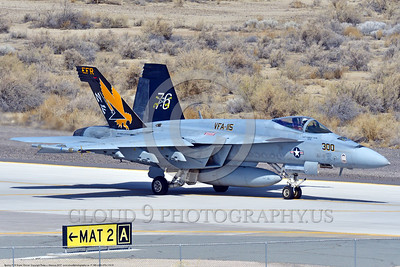 F-18E-USN-VFA-115 0001 A taxing Boeing F-18E Super Hornet USN jet fighter VFA-115 EAGLES commanding officer's airplane USS Ronal Reagan NAS Fallon 3-2017 military airplane picture by Peter J  Mancus     DONEwt