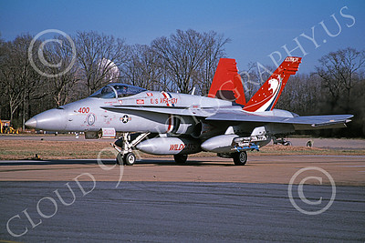 Boeing F-18C-USN 00233 A taxing colorful Boeing F-18C Hornet USN 165217 VFA-131 WILDCATS NAS Oceana 1-2004 military airplane picture by David F Brown