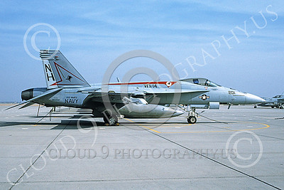 Boeing F-18E-USN 00041 A static Boeing F-18E Super Hornet USN VFA-14 TOPHATTERS USS Nimitz NAS Fallon 11-2003 military airplane picture by Michael Grove, Sr