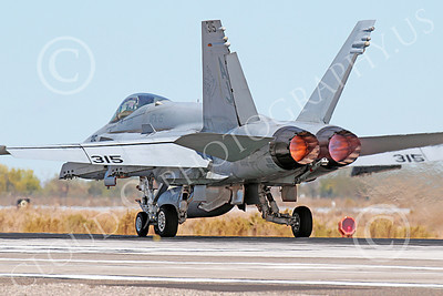 AB-F-18USN 00201 A McDonnell Douglas F-18 Hornet USN 164646 jet fighter VFA-15 VALIONS in full afterburner at NAS Fallon 10-2013 military airplane picture by Peter J Mancus