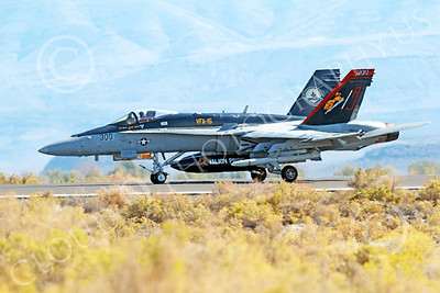 Boeing F-18C-USN 00023 A taxing colorful Boeing F-18C Hornet VFA-15 VALIONS AJ code NAS Fallon 10-2013 military airplane picture by Peter J Mancus