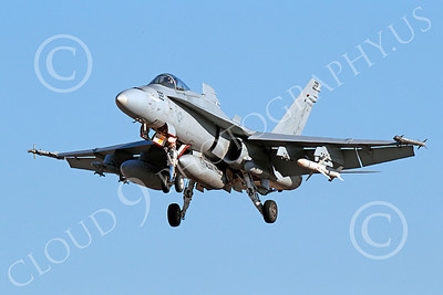 Boeing F-18C-USN 00126 A landing Boeing F-18C Hornet jet fighter USN VFA-15 VALIONS 10-2013 military airplane picture by Peter J Mancus