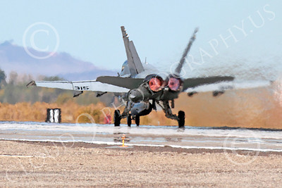 AB-F-18USN 00211 A McDonnell Douglas F-18 Hornet USN 164646 jet fighter VFA-15 VALIONS in full afterburner at NAS Fallon 10-2013 military airplane picture by Peter J Mancus