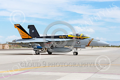 Boeing F-18E-USN 00053 A Boeing F-18E Super Hornet jet fighter USN VFA-151 Vigilantes taxis at NAS Fallon 7-2014 military airplane picture by Peter J Mancus