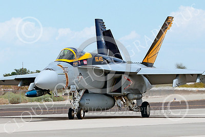 Boeing F-18E-USN 00101 A Boeing F-18E Super Hornet jet fighter USN VFA-151 Vigilantes taxis at NAS Fallon 7-2014 military airplane picture by Peter J Mancus