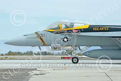 CUNMJ 00189 A Boeing F-18E Super Hornet jet fighter USN VFA-151 Vigilantes on runway ready for take-off at NAS Fallon 7-2014 military airplane picture by Peter J Mancus