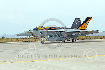 Boeing F-18E-USN 00108 A Boeing F-18E Super Hornet jet fighter USN VFA-151 Vigilantes taxis at NAS Fallon 7-2014 military airplane picture by Peter J Mancus