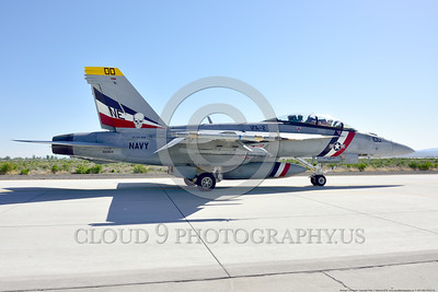 F-18F-USN-VFA-2 0013 A colorful Boeing F-18F Super Hornet jet fighter USN 166804 VFA-2 BOUNTY HUNTERS CAG USS Carl Vinson taxis for take-off at NAS Fallon 4-2016 military airplane picture by Peter J  Mancus