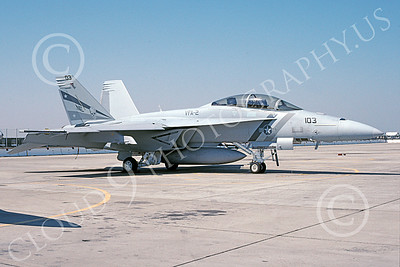 Boeing F-18F-USN 00031 A static gray Boeing F-18F Super Hornet USN 165919 VFA-2 BOUNTY HUNTERS NAS Fallon 6-2003 military airplane picture by Michael Grove, Sr