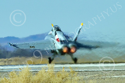 Boeing F-18F-USN 00320 A Boeing F-18F Super Hornet USN VFA-2 BOUNTY HUNTERS CAG NE code commanding officer's airplane USS Ronald Reagan takes off in afterburner at NAS Fallon 2-2015 military airplane picture by Peter J Mancus