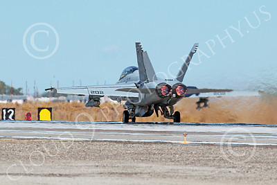 AB-F-18USN 00203 A McDonnell Douglas F-18 Hornet USN jet fighter VFA-213 BLACK LIONS in full afterburner at NAS Fallon 10-2013 military airplane picture by Peter J Mancus