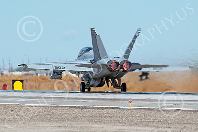 AB-F-18USN 00223 A McDonnell Douglas F-18 Hornet USN jet fighter VFA-213 BLACK LIONS in full afterburner at NAS Fallon 10-2013 military airplane picture by Peter J Mancus