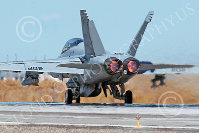 AB-F-18USN 00210 A McDonnell Douglas F-18 Hornet USN jet fighter VFA-213 BLACK LIONS in full afterburner at NAS Fallon 10-2013 military airplane picture by Peter J Mancus