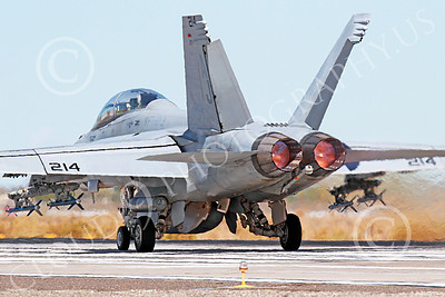 AB-F-18USN 00216 A McDonnell Douglas F-18 Hornet USN jet fighter VFA-213 BLACK LIONS in full afterburner at NAS Fallon 10-2013 military airplane picture by Peter J Mancus