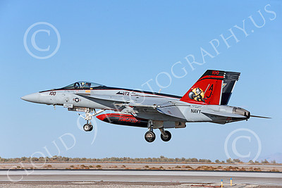 Boeing F-18E-USN 00084 A colorful Boeing F-18E Super Hornet USN 166776 VFA-31 TOMCATTERS USS George H W Bush AJ code lands at NAS Fallon 10-2013 military airplane picture by Peter J Mancus