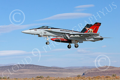 Boeing F-18E-USN 00018 A colorful Boeing F-18E Super Hornet USN 166776 VFA-31 TOMCATTERS USS George H W Bush AJ code lands at NAS Fallon 10-2013 military airplane picture by Peter J Mancus