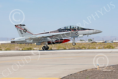 Boeing F-18F-USN 00055 A Boeing F-18F Super Hornet jet fighter USN VFA-41 Black Aces CAG on take-off roll at NAS Fallon military airplane picture by Peter J Mancus