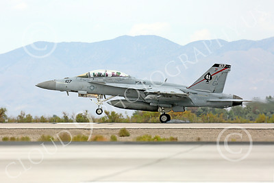 Boeing F-18F-USN 00023 A landing Boeing F-18F Super Hornet jet fighter USN VFA-41 Black Aces touches down at NAS Fallon 7-2014 military airplane picture by Peter J Mancus