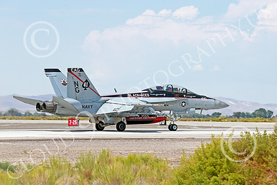 Boeing F-18F-USN 000167 A Boeing F-18F Super Hornet jet fighter USN VFA-41 Black Aces CAG rolls out after landing at NAS Fallon 7-2014 military airplane picture by Peter J Mancus