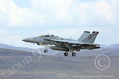 Boeing F-18F-USN 00064 A Boeing F-18F Super Hornet jet fighter USN VFA-41 Black Aces on final approach to land at NAS Fallon 7-2014 military airplane picture by Peter J Mancus