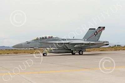 Boeing F-18F-USN 00015 A Boeing F-18F Super Hornet jet fighter USN VFA-41 Black Aces taxis at NAS Fallon 7-2014 military airplane picture by Peter J Mancus