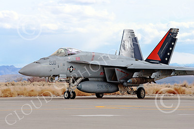 Boeing F-18E-USN 00003 A taxing Boeing F-18E Super Hornet USN VFA-81 SLUNLINERS with large bombs NAS Fallon 3-2013 military airplane picture by Peter J Mancus