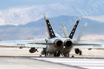 Boeing F-18C-USN 00237 A Boeing F-18C Hornet USN with two large bombs VFA-81 SUNLINERS taxis at NAS Fallon 3-2013 airplane picture by Peter J Mancus