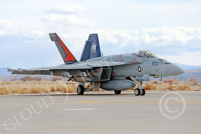 Boeing F-18E-USN 00081 A taxing Boeing F-18E Super Hornet USN VFA-81 SLUNLINERS with large bombs NAS Fallon 3-2013 military airplane picture by Peter J Mancus