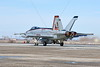 F-18E-USN-VFA-86-0005 A colorful Boeing F-18E Super Hornet jet fighter USN VFA-86 SIDEWINDERS CAG USS Dwight D  Eisenhower 166950 begins its take-off roll in afterburner at NAS Fallon 2015 military airplane picture by Carl E  Porter