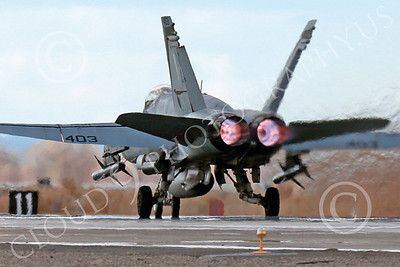 AB-F-18USN-L 00045 A Boeing F-18C Hornet USN VFA-94 MIGHTY SHRIKES takes off NAS Fallon 3-2013 military airplane picture by Peter J Mancus