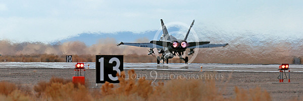 AB-F-18USN-L 00017 A Boeing F-18C Hornet USN VFA-94 MIGHTY SHRIKES takes off NAS Fallon 3-2013 military airplane picture by Peter J Mancus
