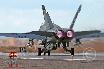 AB-F-18USN-L 00115 A Boeing F-18C Hornet USN VFA-94 MIGHTY SHRIKES takes off NAS Fallon 3-2013 military airplane picture by Peter J Mancus
