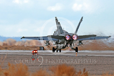 AB-F-18USN-L 00113 A Boeing F-18C Hornet USN VFA-94 MIGHTY SHRIKES takes off NAS Fallon 3-2013 military airplane picture by Peter J Mancus