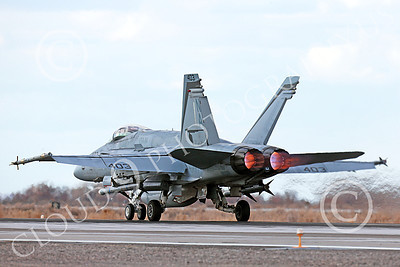 AB-F-18USN-L 00055 A Boeing F-18C Hornet USN VFA-94 MIGHTY SHRIKES takes off NAS Fallon 3-2013 military airplane picture by Peter J Mancus