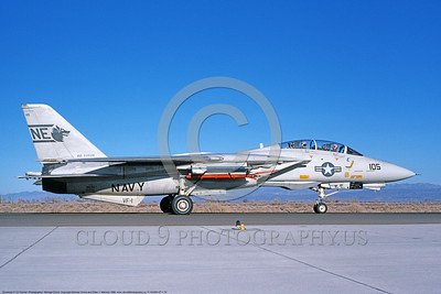 F-14USN-VF-1 0033 A taxing USN Grumman F-14 Tomcat jet fighter 161292 VF-1 WOLFPACK NAS Fallon 2-1986 military airplane picture by Michael Grove, Sr   DONEwt