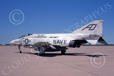 F-4USN 00863 A static McDonnell Douglas F-4J Phantom II US Navy 155567 VF-171 ACES 6-1981 military airplane picture by Barry Roop
