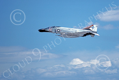F-4USN 00056 A flying McDonnell Douglas F-4 Phantom II US Navy VF-201 HUNTERS military airplane pictures by Michael Grove