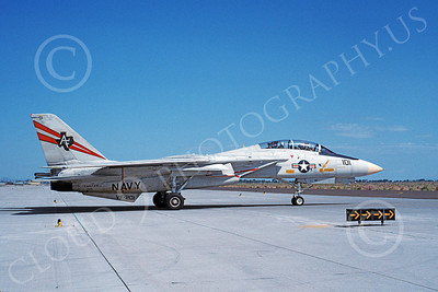 F-14USN  01261 A taxing lGrumman F-14 Tomcat USN 162708 VF-201 HUNTERS NAS Fallon 5-1992, by Michael Grove, Sr